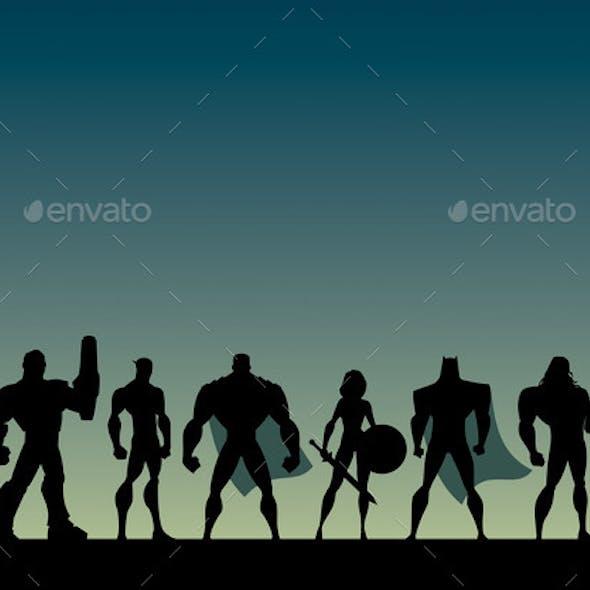 Super Team Cartoon