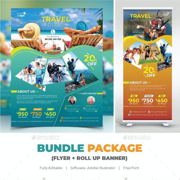 Bundle Travel (Flyer+Roll Up Banner)