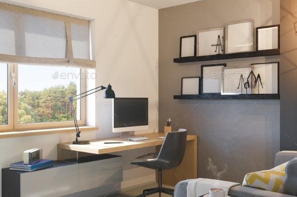 3d Illustration of Interior Design Concept for - Architecture 3D Renders