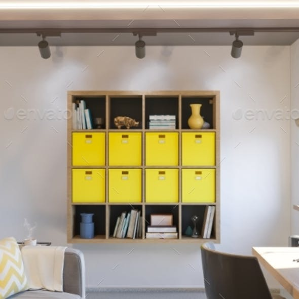3d Illustration of Interior Design Concept for
