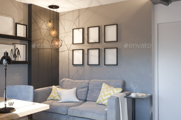 3d Illustration of Interior Design Concept for - Architecture 3D Renders