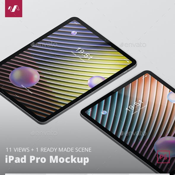 Pad Pro Tablet Screen Mockup