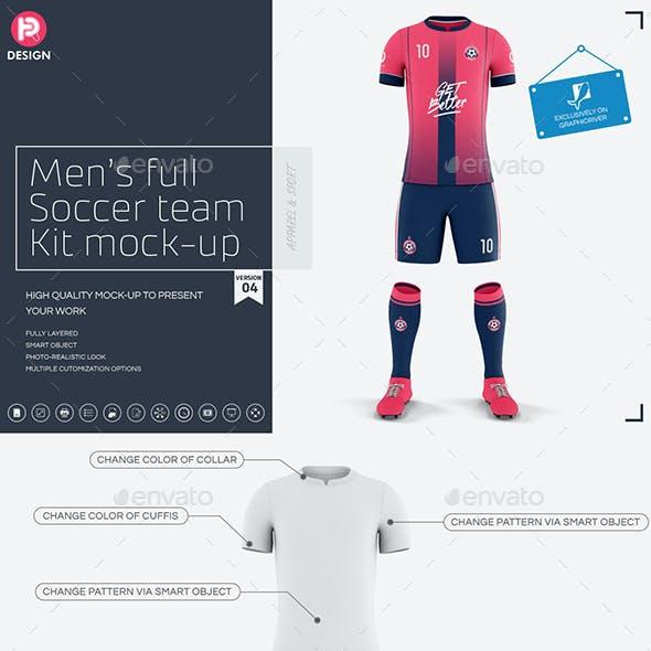 Men's Full Soccer Team Kit mockup V4