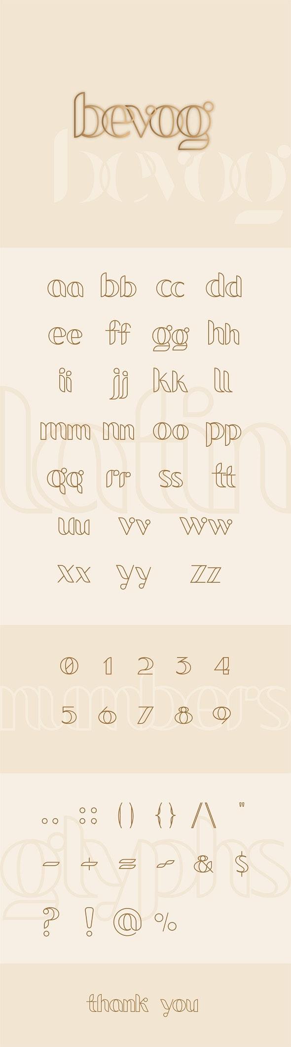 Bevog Font - Cool Fonts