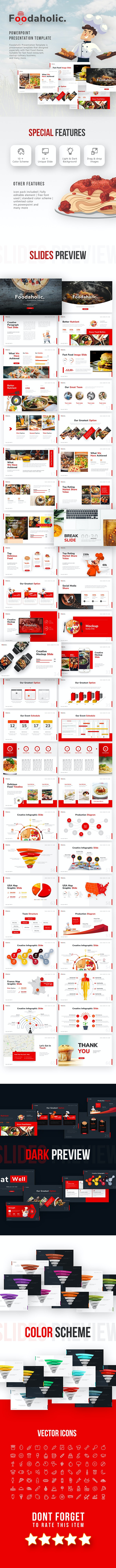 Foodaholic - Culinary PowerPoint Template - PowerPoint Templates Presentation Templates