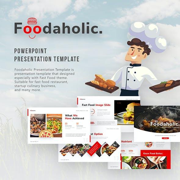 Foodaholic - Culinary PowerPoint Template