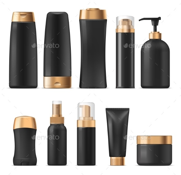 Cosmetics and Perfumes Vector Isolated - Man-made Objects Objects