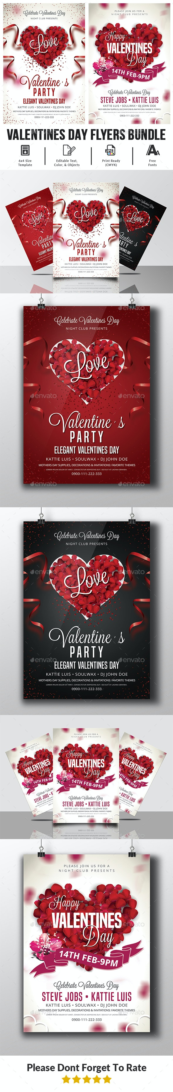 Valentines Day Flyer Bundle - Events Flyers