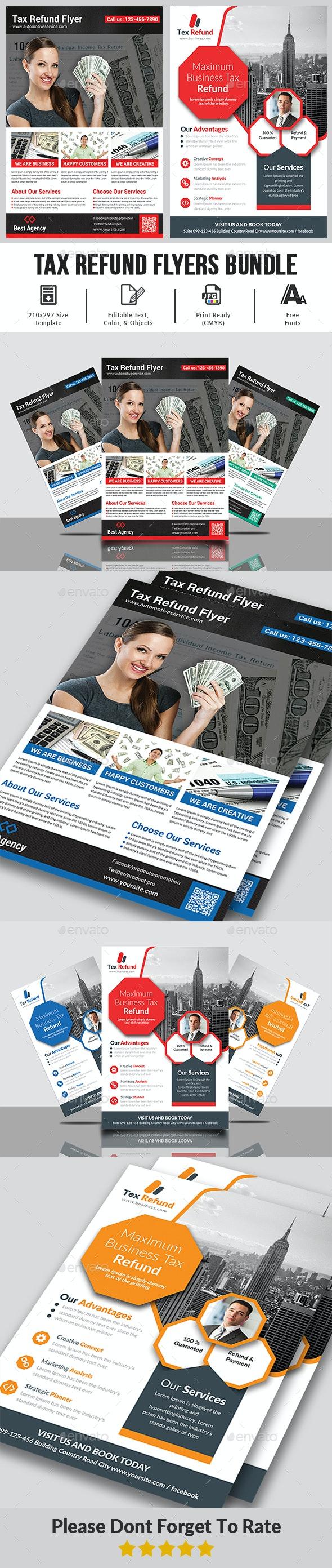 Business Tax Refund Flyer Bundle - Corporate Flyers
