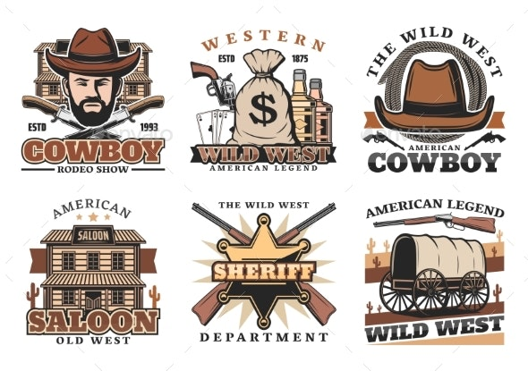 Western Wild West Icons - Man-made Objects Objects