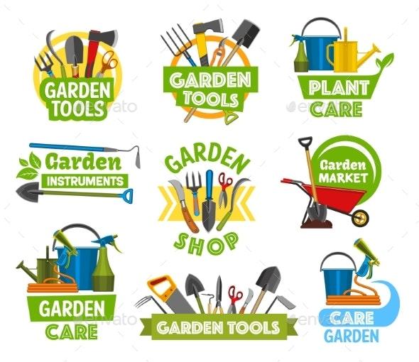 Gardening Icons - Decorative Symbols Decorative