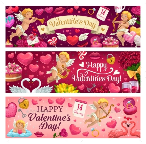 Valentines Day Holiday Banners - Valentines Seasons/Holidays