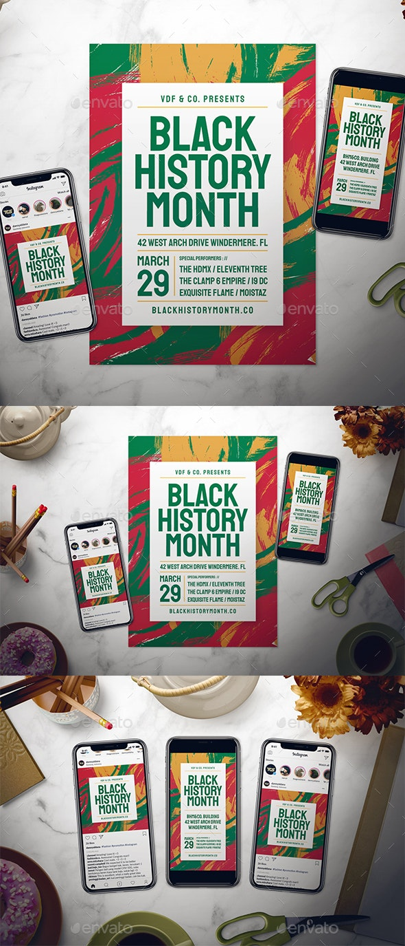 Black History Month Flyer Set - Events Flyers