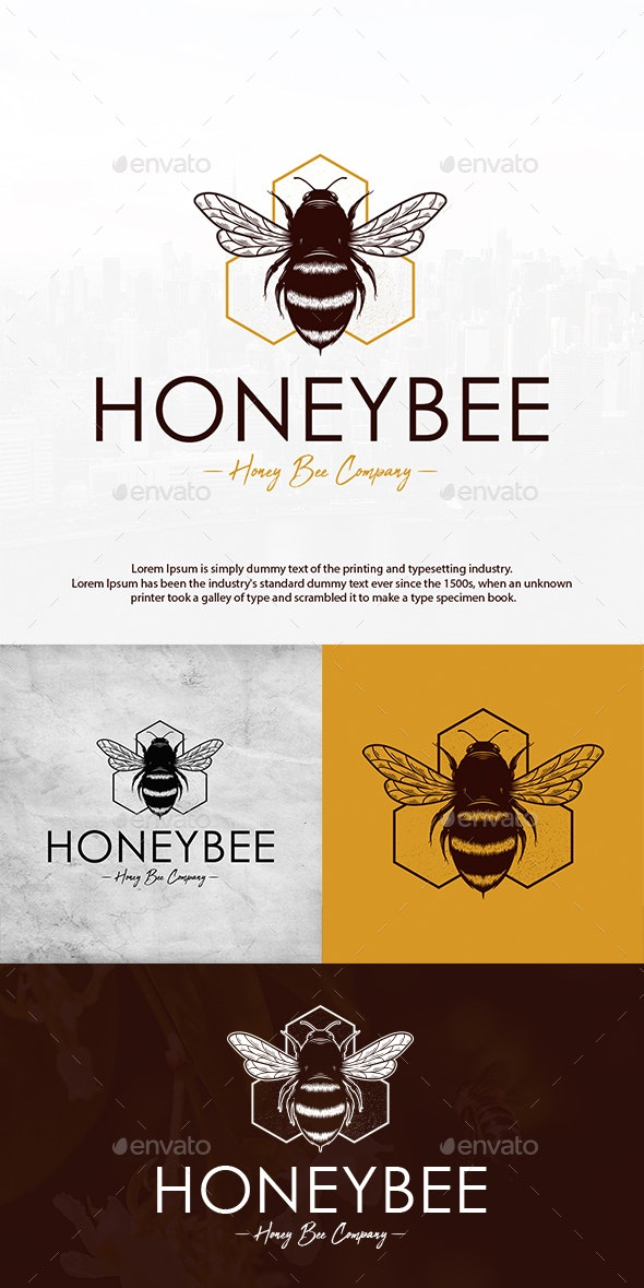 Bee Hive Creative Logo - Animals Logo Templates