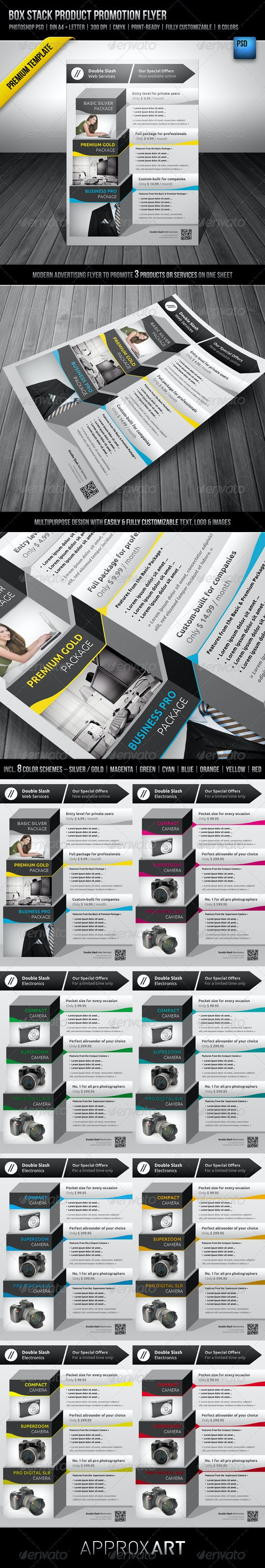Box Stack Product Promotion Flyer - Commerce Flyers
