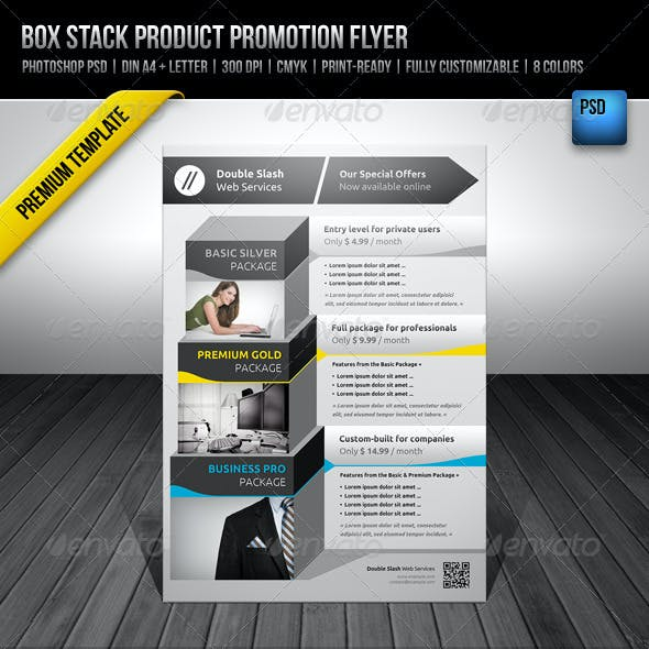 Box Stack Product Promotion Flyer