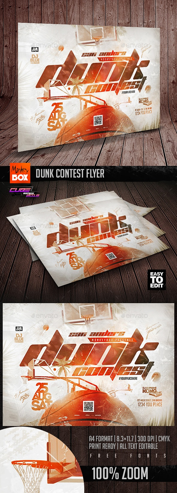 Dunk Contest Flyer - Sports Events
