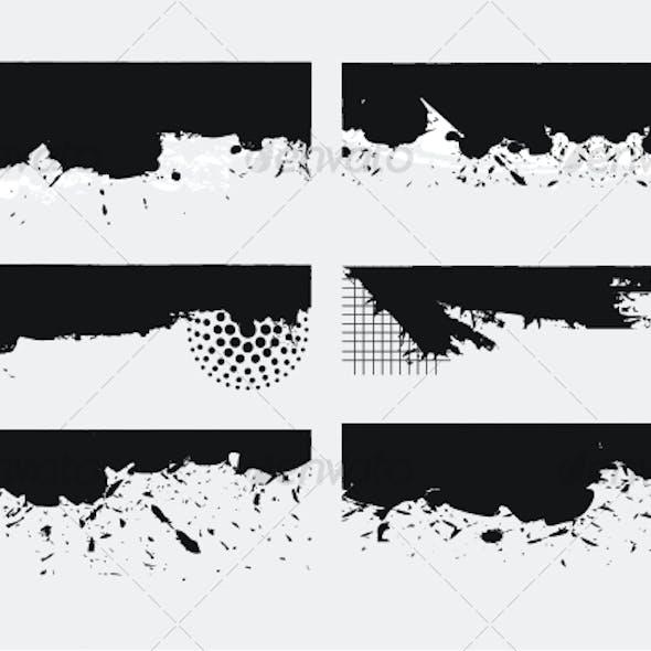 Set of Grunge edges