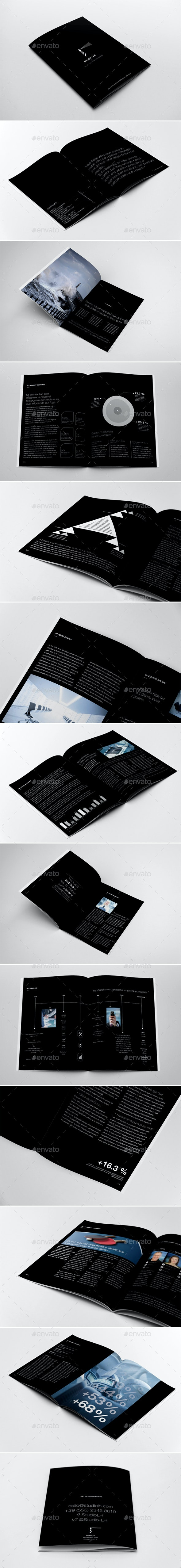 Company Annual Report & Brochure Template - Print Templates