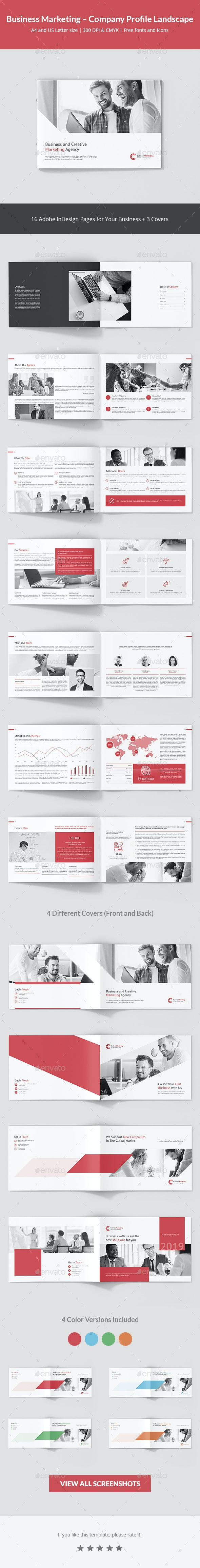 Business Marketing – Company Profile Landscape - Corporate Brochures