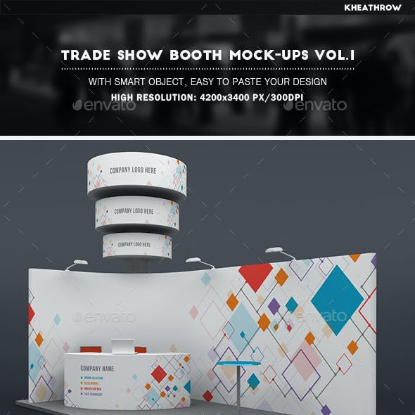 Trade Show Booth Mock-Ups Vol.1