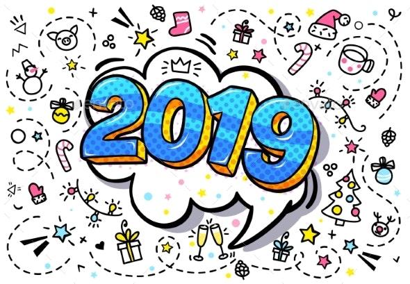 New Year Greeting Card - New Year Seasons/Holidays
