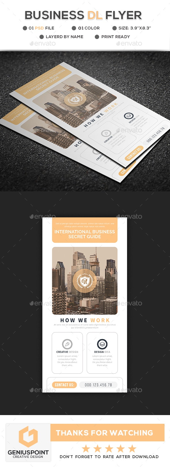 Business DL Flyer - Flyers Print Templates