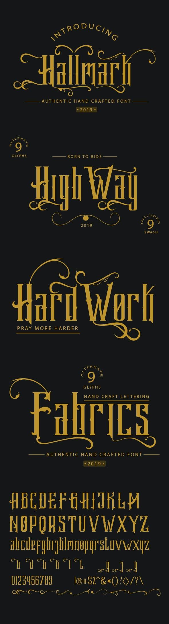 Hallmark - Decorative Fonts