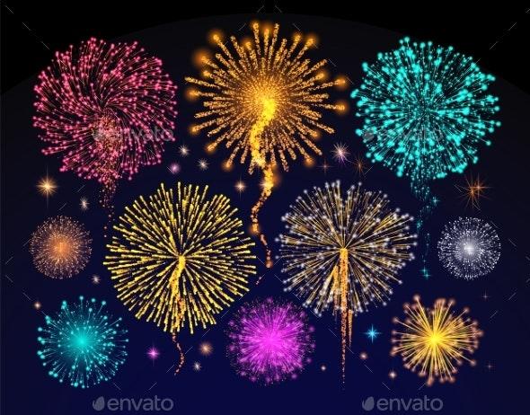 Fireworks Celebration of Holiday - Miscellaneous Seasons/Holidays
