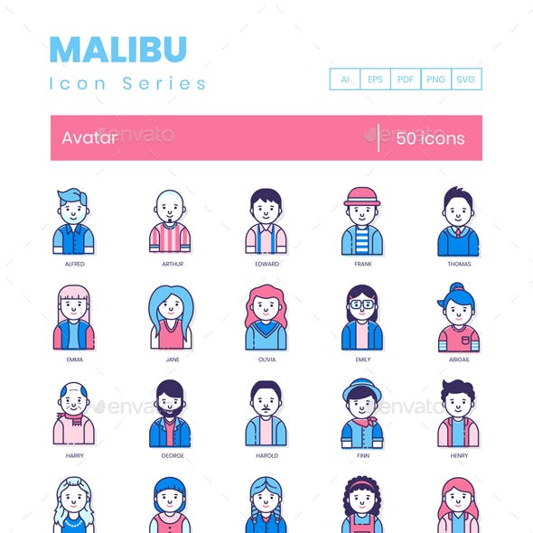 Avatar Icons - Malibu Series