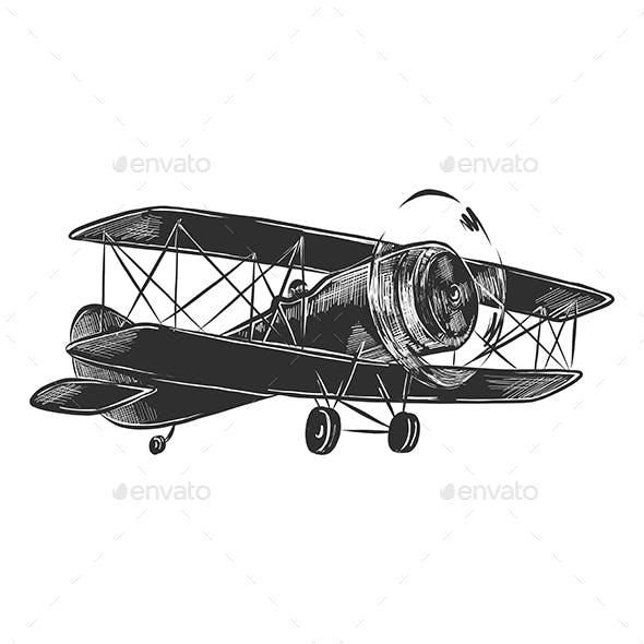 Airplane in Monochrome