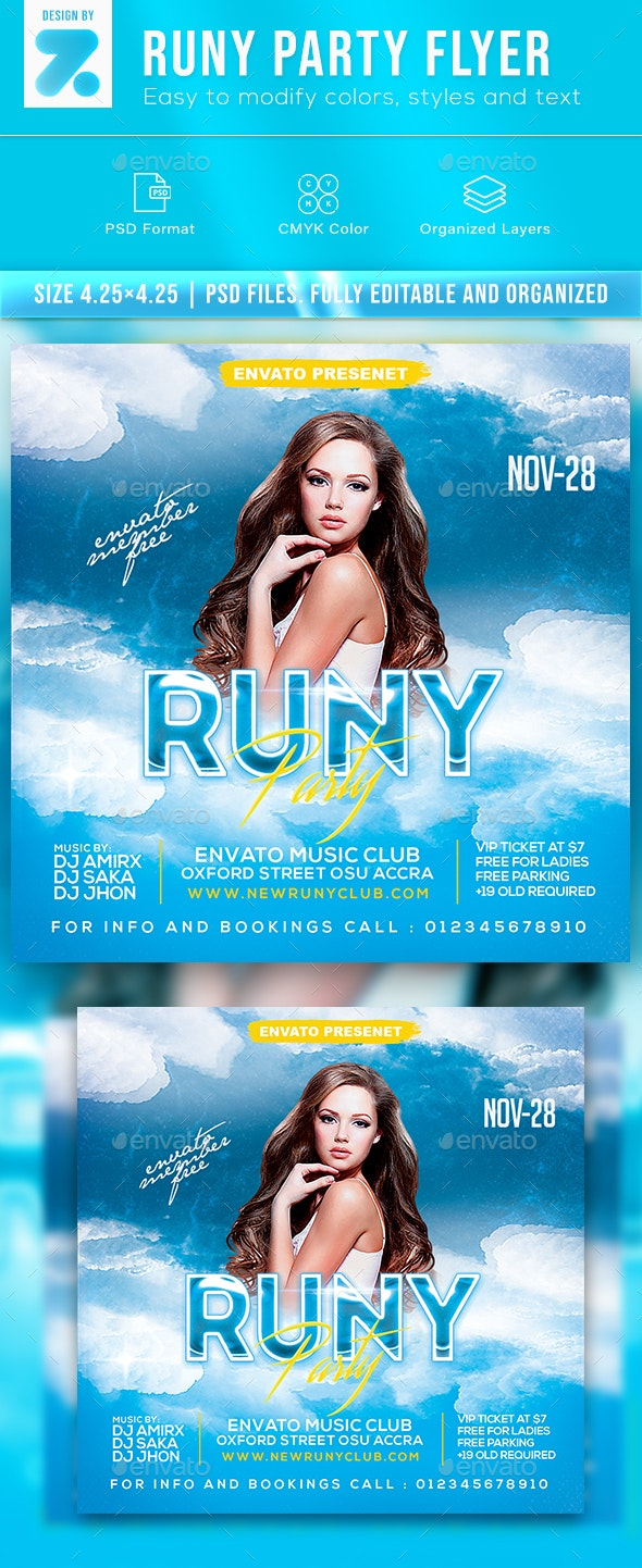 Runy Party Flyer - Clubs & Parties Events