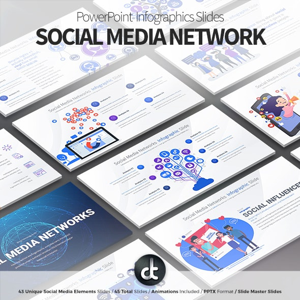 Social Media Network - PowerPoint Infographics Slides - Business PowerPoint Templates