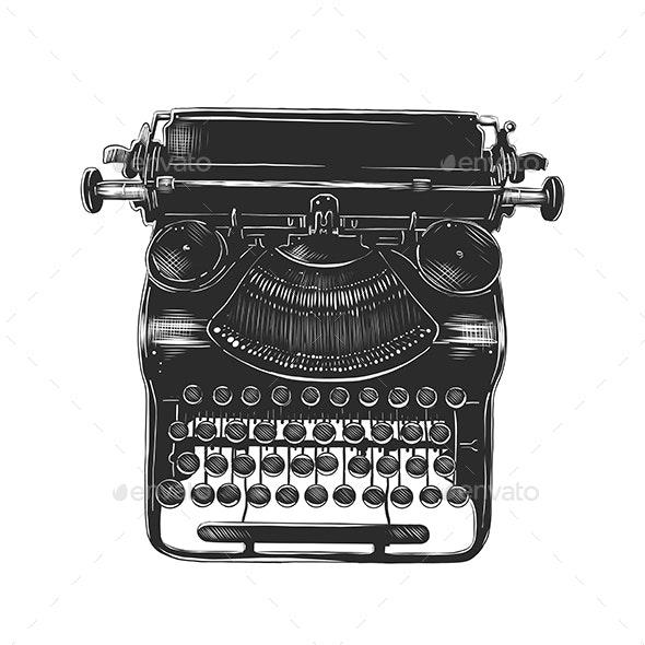 Old Typewriter - Retro Technology