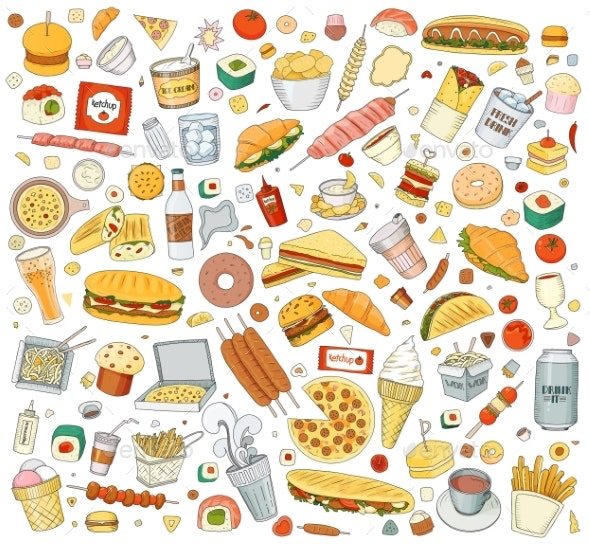 Fast Food Elements - Food Objects