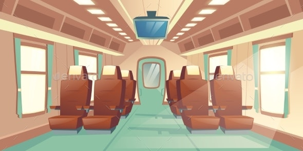 Vector Train Cabin - Backgrounds Decorative