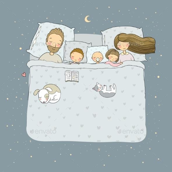 Sleeping Family - People Characters