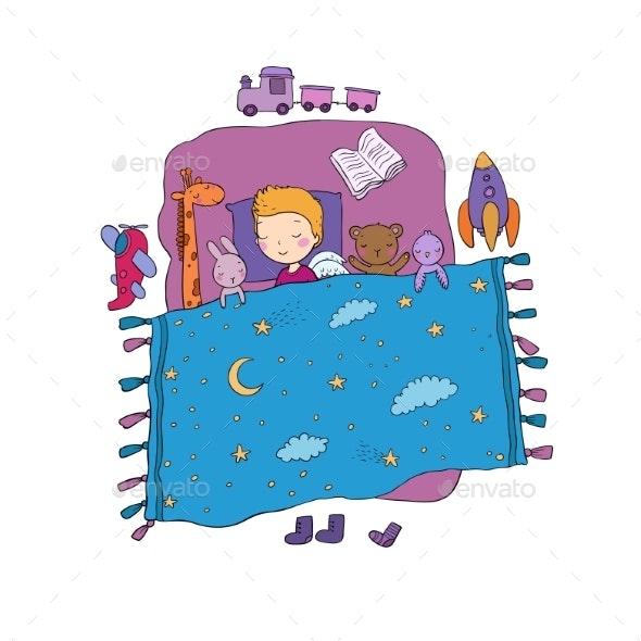 Sleeping Boy - Miscellaneous Vectors