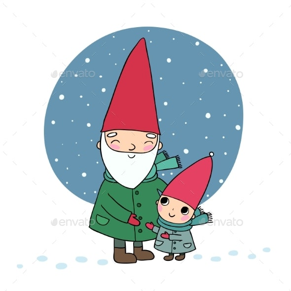 Cartoon Gnomes - People Characters