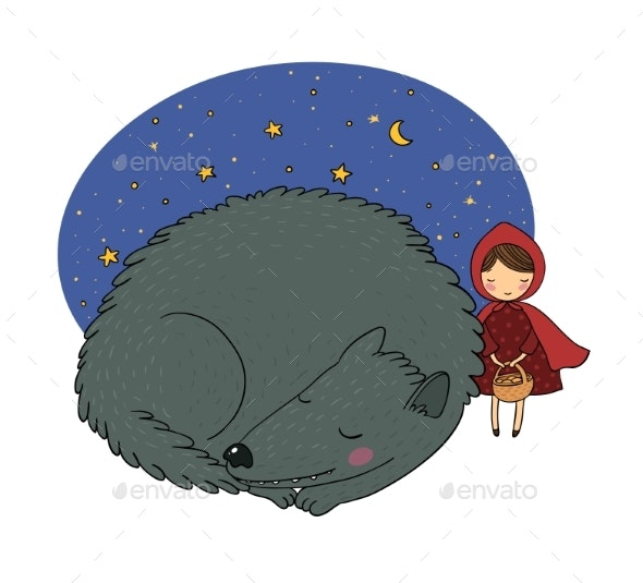 Little Red Riding Hood Fairy Tale - Miscellaneous Vectors