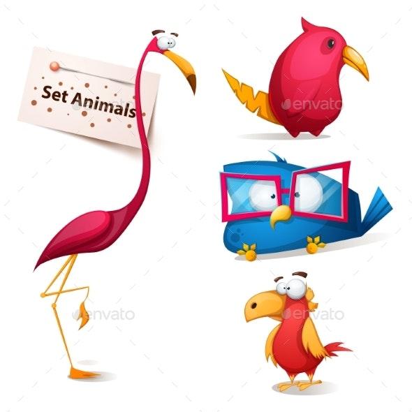 Cartoon Bird Characters - Animals Characters