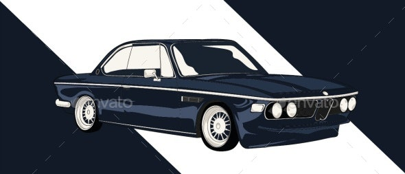Classic Luxury Car - Miscellaneous Vectors