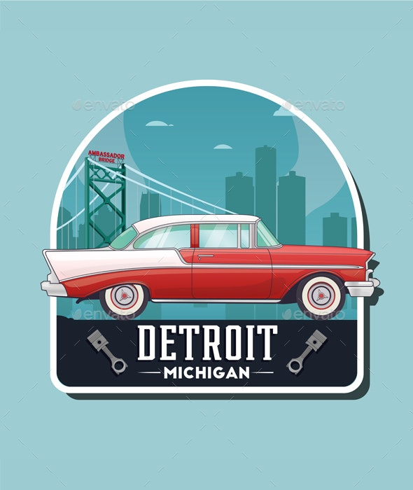Vintage Car Detroit - Retro Technology