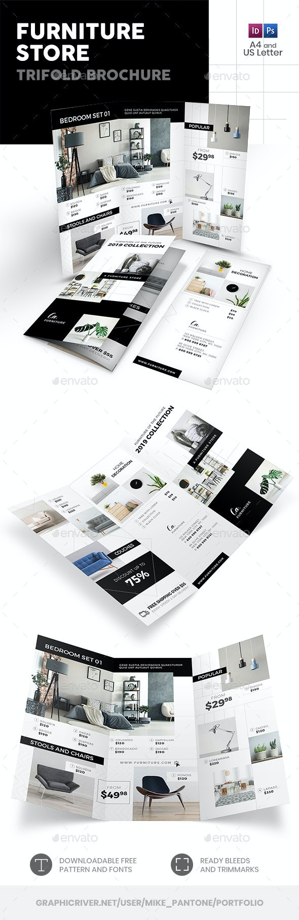 Furniture Store Trifold Brochure 4 - Informational Brochures