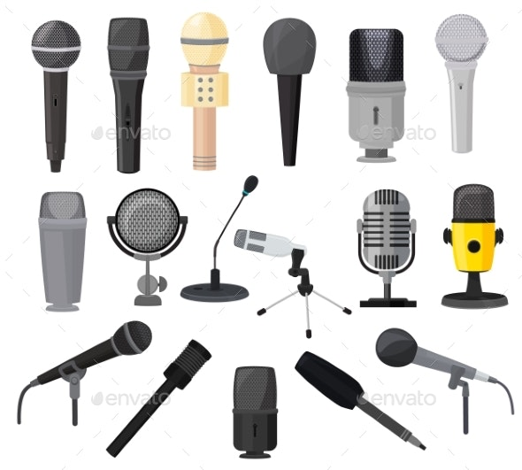 Microphone Vector Microphones for Audio Podcast - Man-made Objects Objects