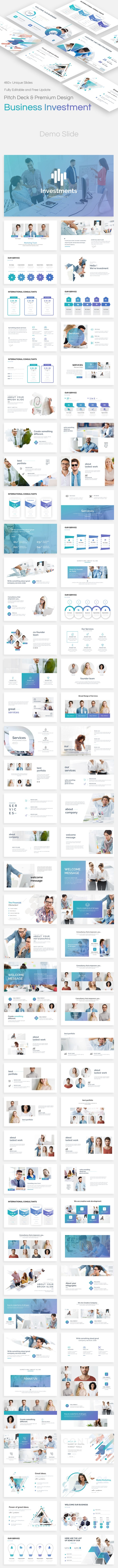 Business Investments Pitch Deck Powerpoint Template - Business PowerPoint Templates