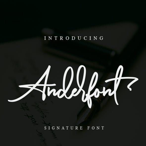Anderfont - a Signature Font