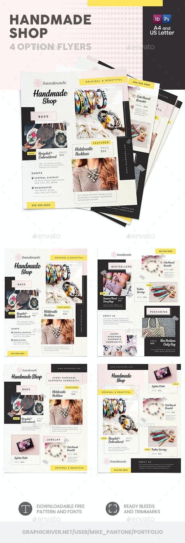 Handmade Shop Flyers 2 – 4 Options - Commerce Flyers