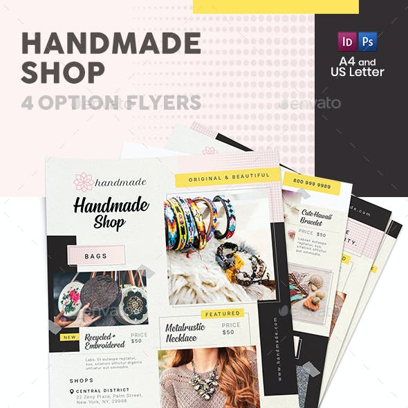 Handmade Shop Flyers 2 – 4 Options