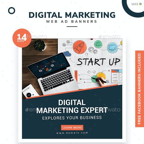 Digital Marketing Web Banner Set